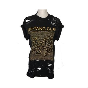 5d3f18b63b8c Tops - Wu-tang wu tang clan distressed women t shirt